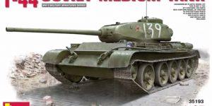 Miniart kündigt ersten T-44 in Spritzguß an (1:35)