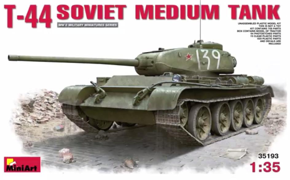 T-44 Miniart kündigt ersten T-44 in Spritzguß an (1:35)