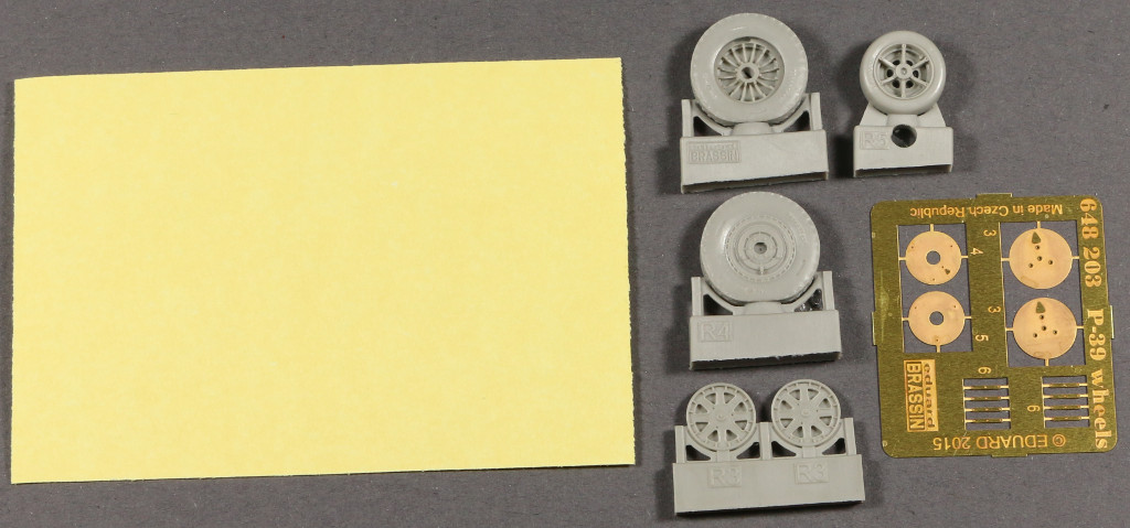 late-1 P-39 wheels early/late Eduard 1:48 (648 202 und 648 203)