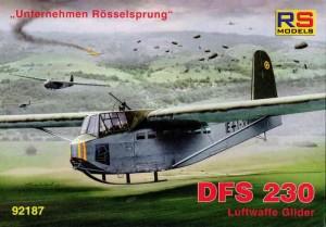 """DFS230_Luftwaffe_Glider_Boxart-300x209 DFS 230 """"Unternehmen Rösselsprung"""" Luftwaffe Glider von RS Models in 1:72"""