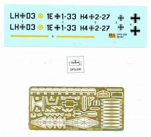 """DFS230_Luftwaffe_Glider_Decal_PE-300x273 DFS 230 """"Unternehmen Rösselsprung"""" Luftwaffe Glider von RS Models in 1:72"""