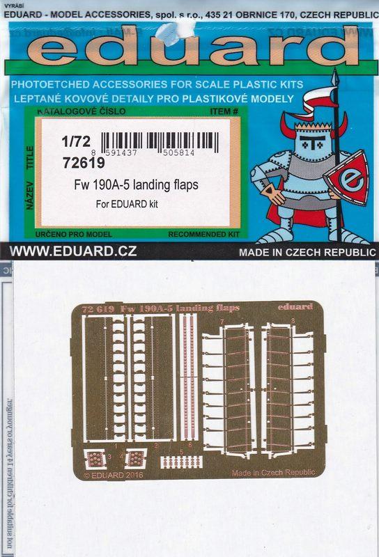 Eduard-72619-FW-190-A-5-Landing-Flaps-2 Nützliches Zubehör für die FW 190 A-5 von Eduard (1:72)
