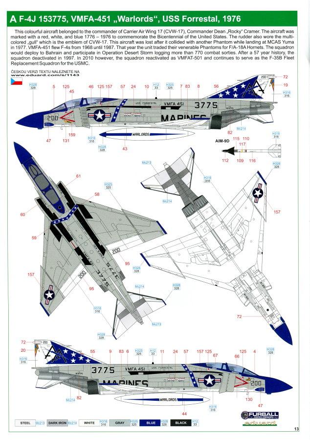 "Eduard_Rockin_Rhino_078 McDonnel Douglas F-4J Phantom II ""Rockin Rhino"" - Eduard Limited Edition - 1/48 ---#1143"