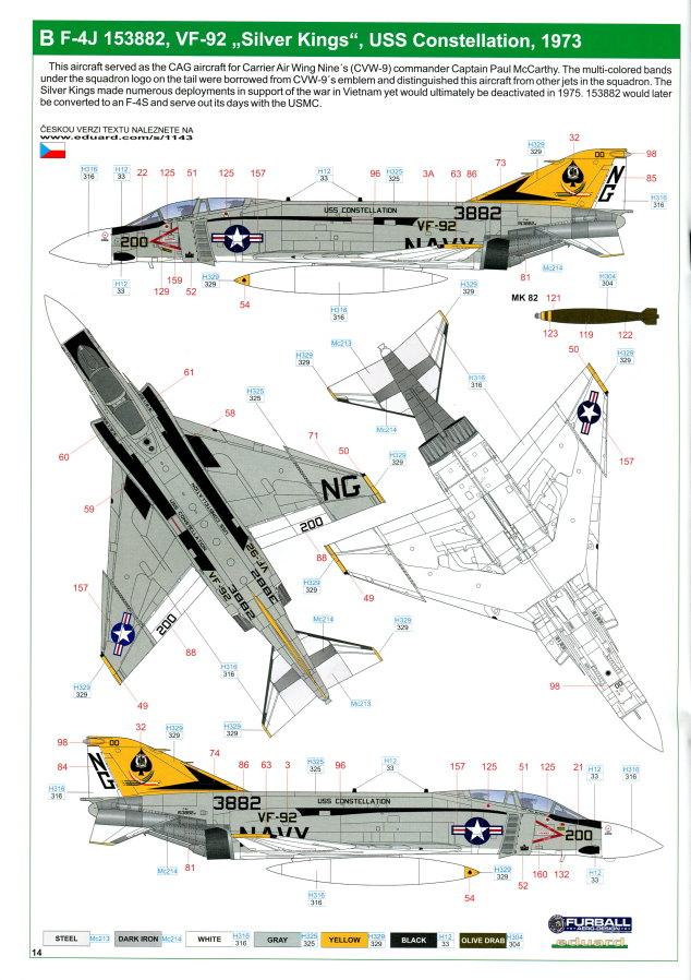 "Eduard_Rockin_Rhino_079 McDonnel Douglas F-4J Phantom II ""Rockin Rhino"" - Eduard Limited Edition - 1/48 ---#1143"