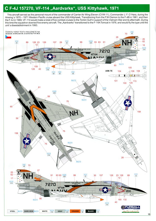 "Eduard_Rockin_Rhino_080 McDonnel Douglas F-4J Phantom II ""Rockin Rhino"" - Eduard Limited Edition - 1/48 ---#1143"