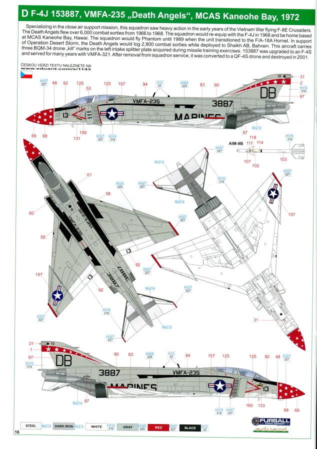 "Eduard_Rockin_Rhino_081 McDonnel Douglas F-4J Phantom II ""Rockin Rhino"" - Eduard Limited Edition - 1/48 ---#1143"