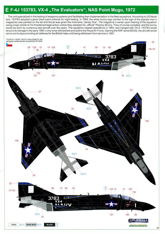 "Eduard_Rockin_Rhino_082 McDonnel Douglas F-4J Phantom II ""Rockin Rhino"" - Eduard Limited Edition - 1/48 ---#1143"
