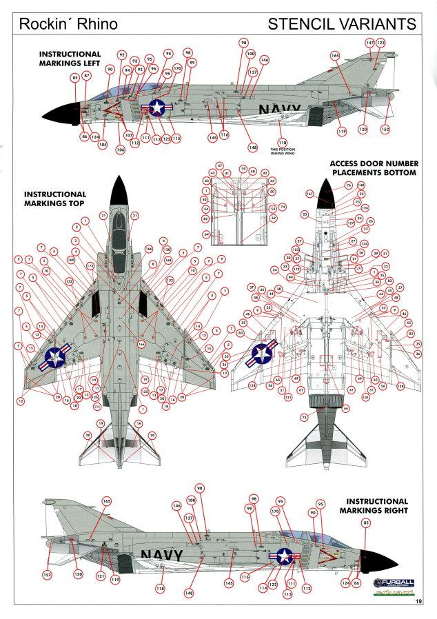 "Eduard_Rockin_Rhino_084 McDonnel Douglas F-4J Phantom II ""Rockin Rhino"" - Eduard Limited Edition - 1/48 ---#1143"