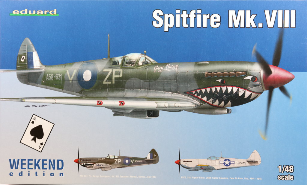 Eduard_Spitfire-Mk.VIII-Weekend_01 Spitfire Mk.VIII - Eduard Weekend Edition - 1/48 --- #84139