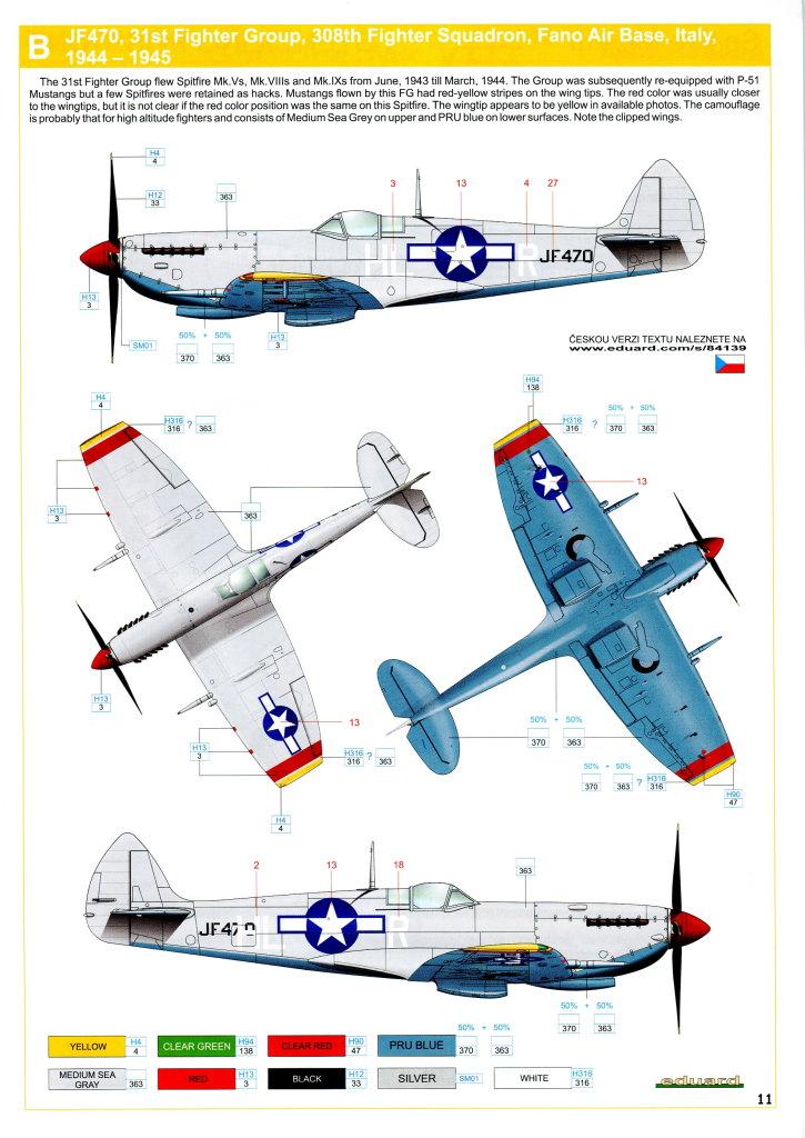 Eduard_Spitfire-Mk.VIII-Weekend_31 Spitfire Mk.VIII - Eduard Weekend Edition - 1/48 --- #84139