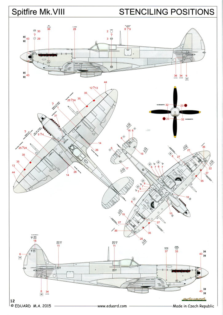 Eduard_Spitfire-Mk.VIII-Weekend_32 Spitfire Mk.VIII - Eduard Weekend Edition - 1/48 --- #84139