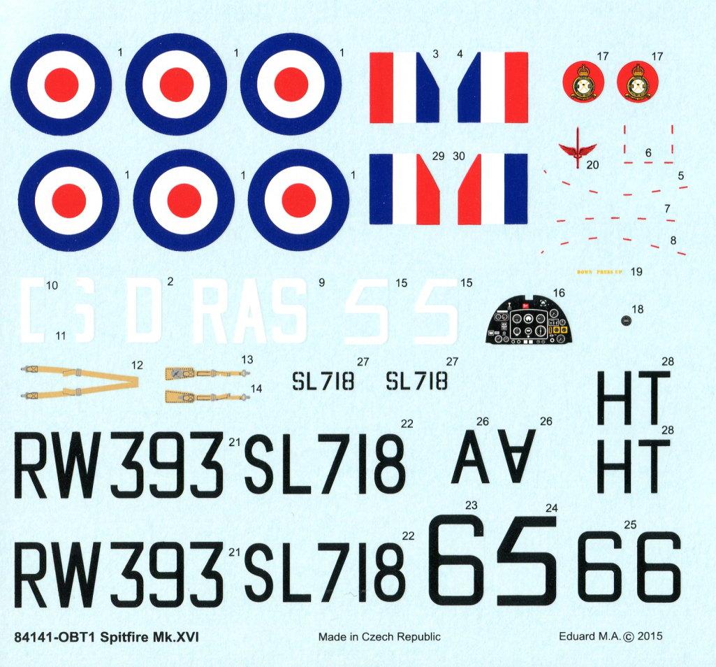 Eduard_Spitfire-Mk.XVI_15 Spitfire Mk.XVI Bubbletop - Eduard Weekend Edition - 1/48 --- #84141