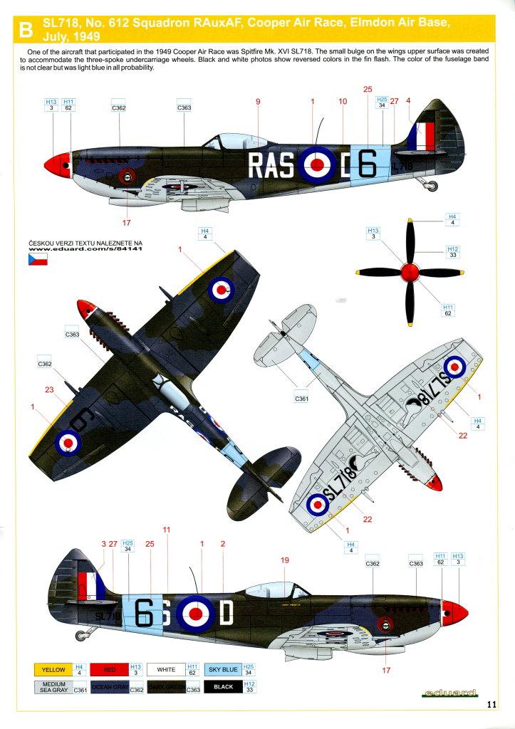 Eduard_Spitfire-Mk.XVI_26 Spitfire Mk.XVI Bubbletop - Eduard Weekend Edition - 1/48 --- #84141