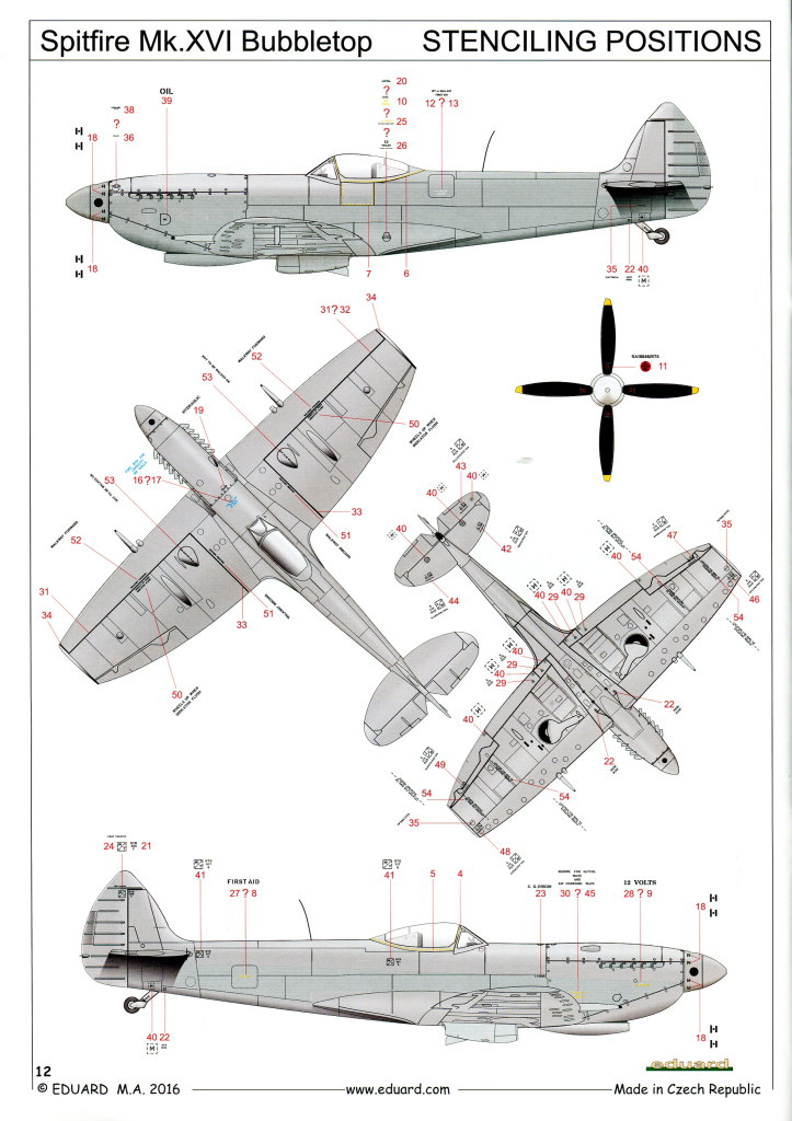 Eduard_Spitfire-Mk.XVI_27 Spitfire Mk.XVI Bubbletop - Eduard Weekend Edition - 1/48 --- #84141