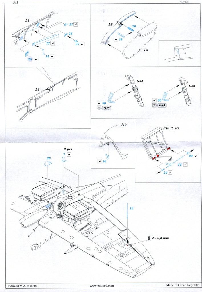 Eduard_Spitfire-Mk.XVI_Zoom_4 Zubehör zur Eduard Spitfire Mk.XVI Bubbletop - Weekend Edition - 1/48 --- PE-Set und Express Mask