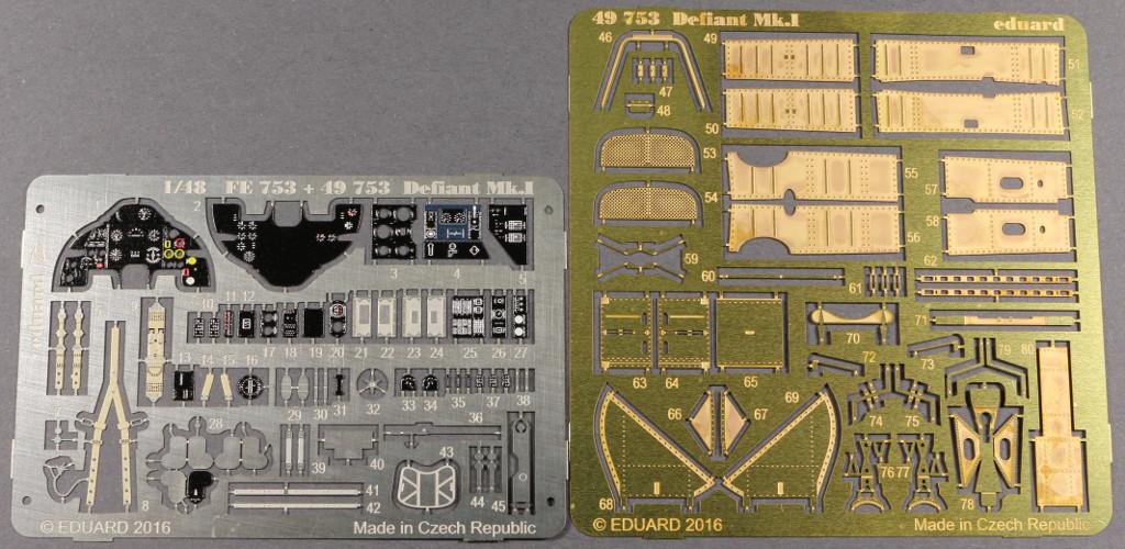 49753-komplett Eduard Zubehör für die neue Airfix Boulton Paul Defiant Mk I (1:48)