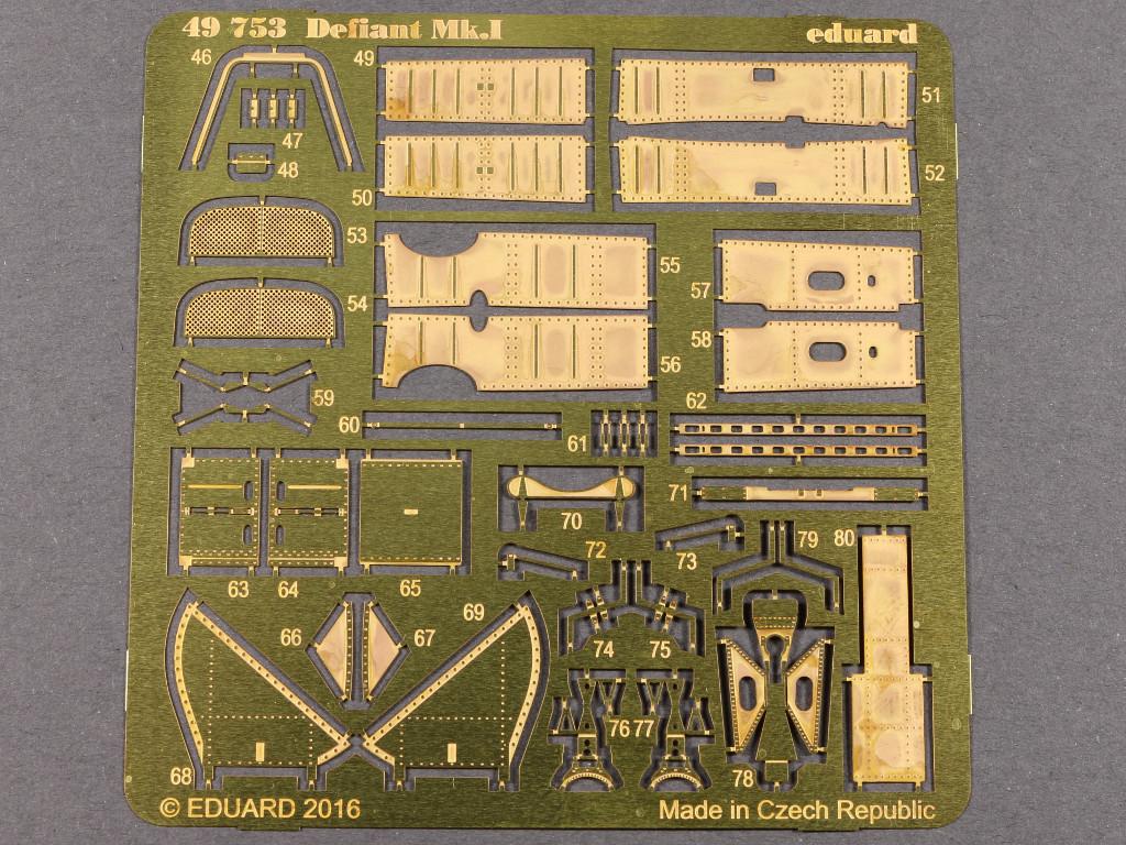 49753 Eduard Zubehör für die neue Airfix Boulton Paul Defiant Mk I (1:48)