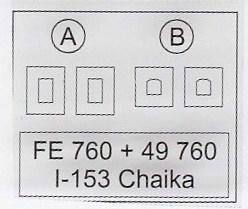 Eduard-49760-Polikarpov-I-153-2 Eduard Zubehör für die Polikarpov I-153 Tschaika von ICM (1:48)