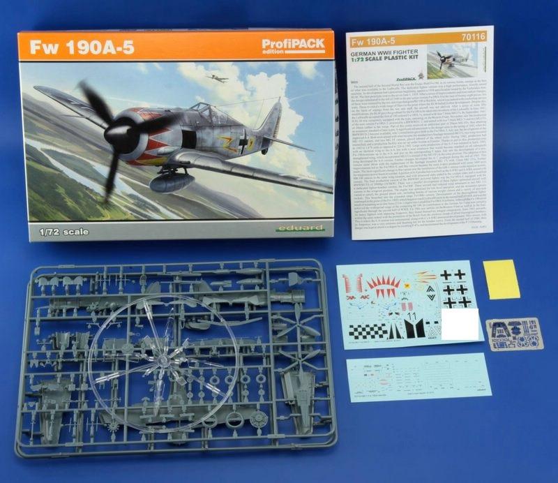 Eduard-70116-FW-190-A-5-ProfiPack-2-1 Eduards FW 190 A-5 als ProfiPack (1:72)