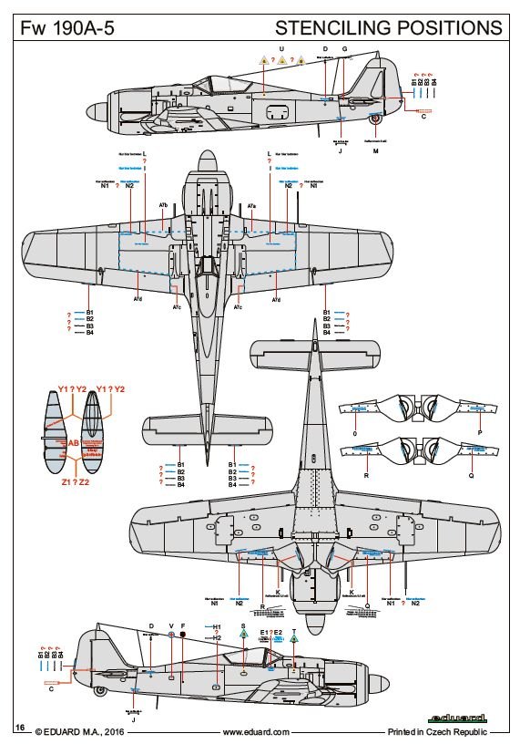 Eduard-70116-FW-190-A-5-ProfiPack-Stencils Eduards FW 190 A-5 als ProfiPack (1:72)