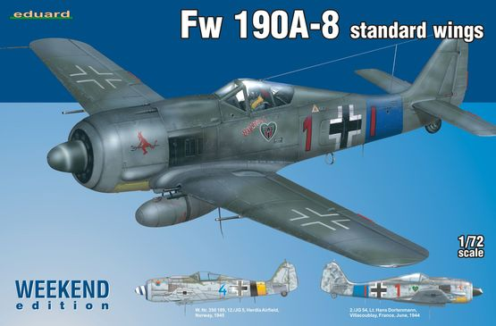 Eduard-7435-FW-190-A-8-WEEKEND FW 190 A-8 in der WEEKEND-Edition von Eduard (1:72)