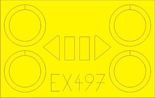 Eduard-EX-497-Polikarpov-I-153-Masken-2 Eduard Zubehör für die Polikarpov I-153 Tschaika von ICM (1:48)