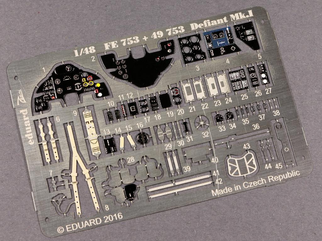 FE753 Eduard Zubehör für die neue Airfix Boulton Paul Defiant Mk I (1:48)