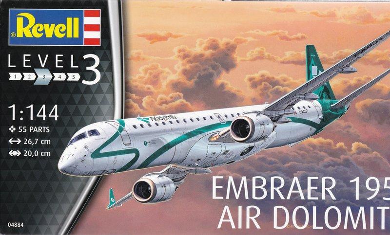 Revell-04884-Embraer-195-Air-Dolomiti-12 Revells neuer Passagierjet - die Embraer 195 Air Dolomiti (1:144)