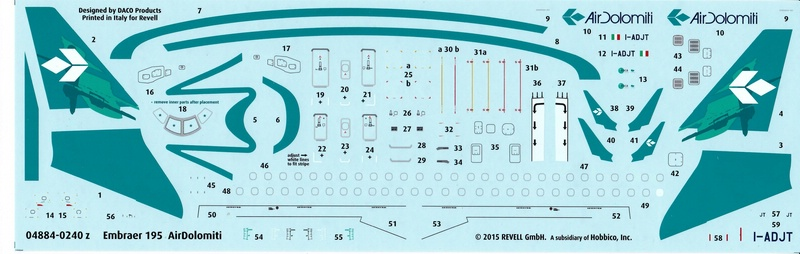 Revell-04884-Embraer-195-Air-Dolomiti-16 Revells neuer Passagierjet - die Embraer 195 Air Dolomiti (1:144)