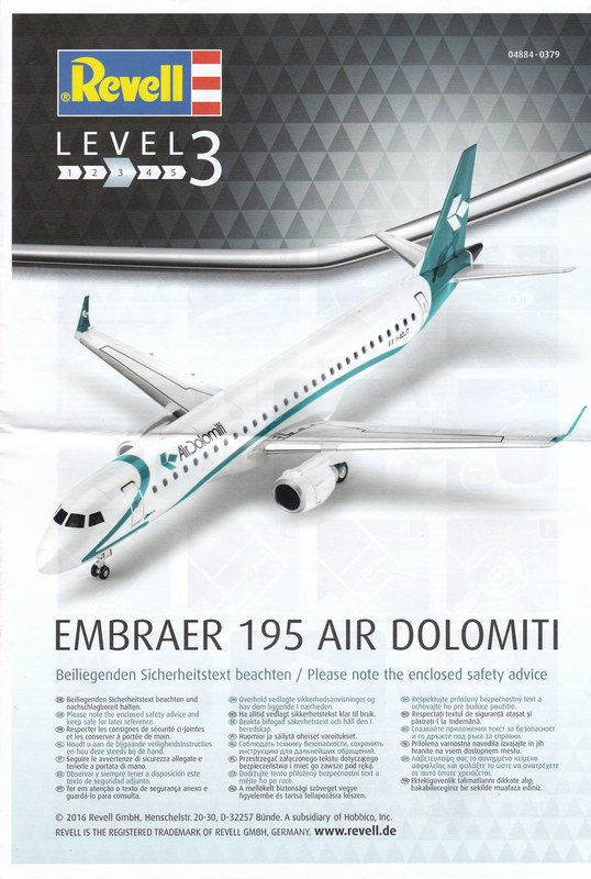 Revell-04884-Embraer-195-Air-Dolomiti-18 Revells neuer Passagierjet - die Embraer 195 Air Dolomiti (1:144)