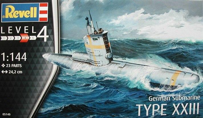 Revell-05140-Typ-XXIII-U-Boot-1 Typ XXIII U-Boot von Revell / ICM im Maßstab 1:144
