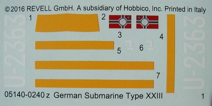 Revell-05140-Typ-XXIII-U-Boot-16 Typ XXIII U-Boot von Revell / ICM im Maßstab 1:144
