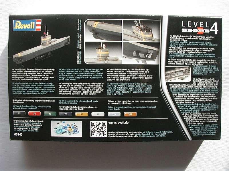Revell-05140-Typ-XXIII-U-Boot-2 Typ XXIII U-Boot von Revell / ICM im Maßstab 1:144