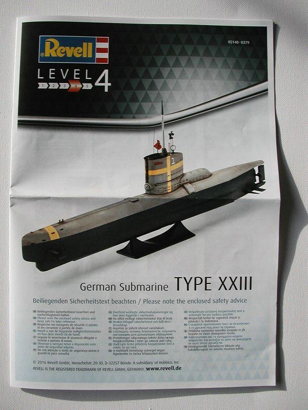 Revell-05140-Typ-XXIII-U-Boot-3 Typ XXIII U-Boot von Revell / ICM im Maßstab 1:144