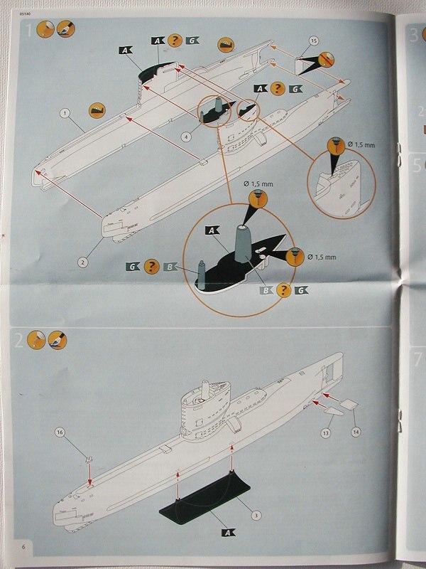 Revell-05140-Typ-XXIII-U-Boot-6 Typ XXIII U-Boot von Revell / ICM im Maßstab 1:144