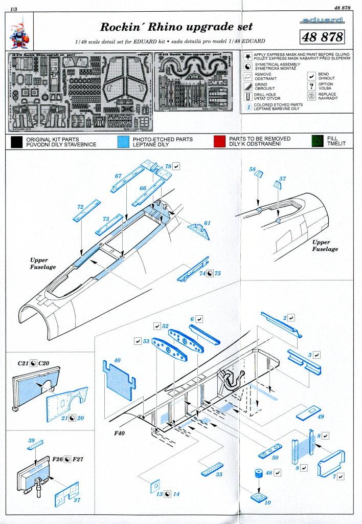 "Rockin-Rhino-Upgrade-Set_06 F-4J Phantom II ""Rockin Rhino"" Upgrade Set - Eduard - 1/48 - #48878"