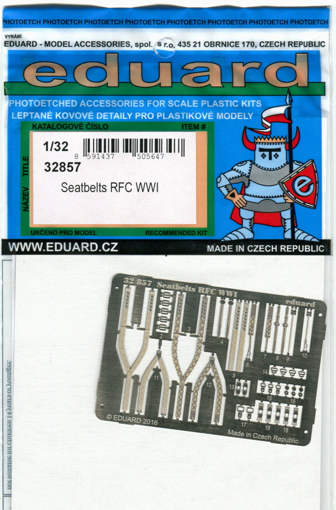 Seatbelts_RFC_WWI_05 Seatbelts RFC WWI - Eduard - 1/32