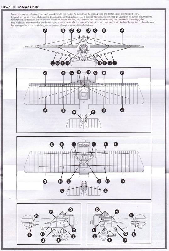 Airfix-A01086-Fokker-Eindecker-E-5 Fokker Eindecker E.II von Airfix (1:72)
