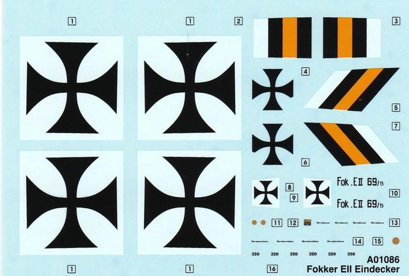 Airfix-A01086-Fokker-Eindecker-E-6 Fokker Eindecker E.II von Airfix (1:72)