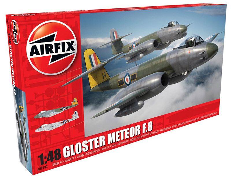 Airfix-A09182-Gloster-Meteor-F-1 Gloster Meteor F.8 von Airfix im Maßstab 1:48