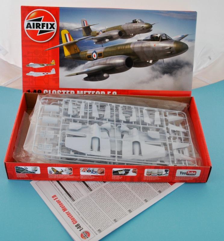 Airfix-A09182-Gloster-Meteor-F-6 Gloster Meteor F.8 von Airfix im Maßstab 1:48