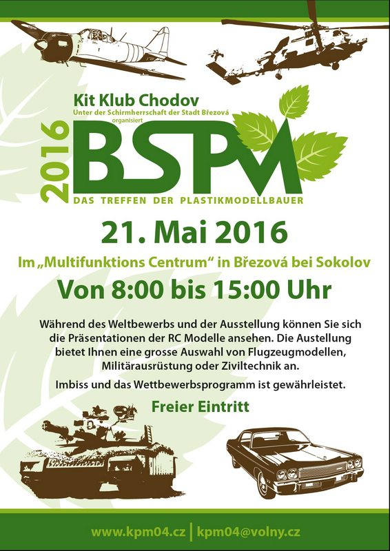 BSPM-Plakat-2016 Brezová Model Show am 21. Mai