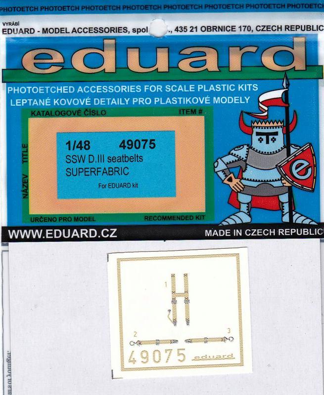 Eduard-49075-SSW-D.III-seatbelts-SUPERFABRIC-2 Eduard´s Quarterscale Siemens-Schuckert SSW D.III (WEEKEND 8484)