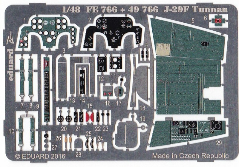 Eduard-49766-J-29F-Tunnan-Interior-Exterior-2 Nützliches Eduard Zubehör für die J-29F Tunnan von Hobby Boss (1:48)