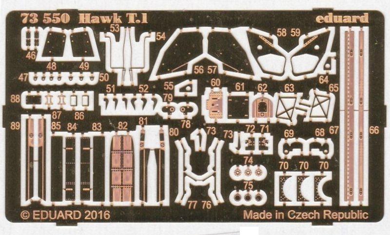 Eduard-73550-Hawk-T-1 Eduard Zubehör für die Hawk T.1 von Revell in 1:72