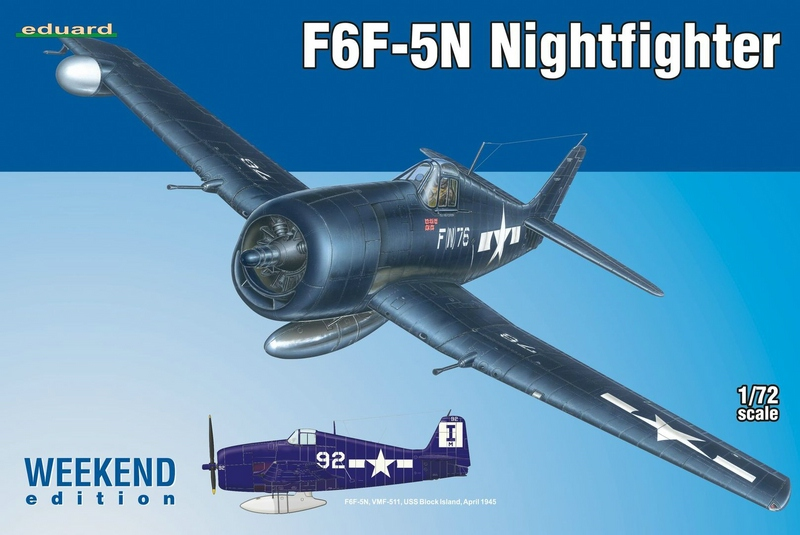 Eduard-7434-F6F-5N-Hellcat-Nightfighter-1 F6F-5N Nightfighter plus Zubehör von Eduard 1:72