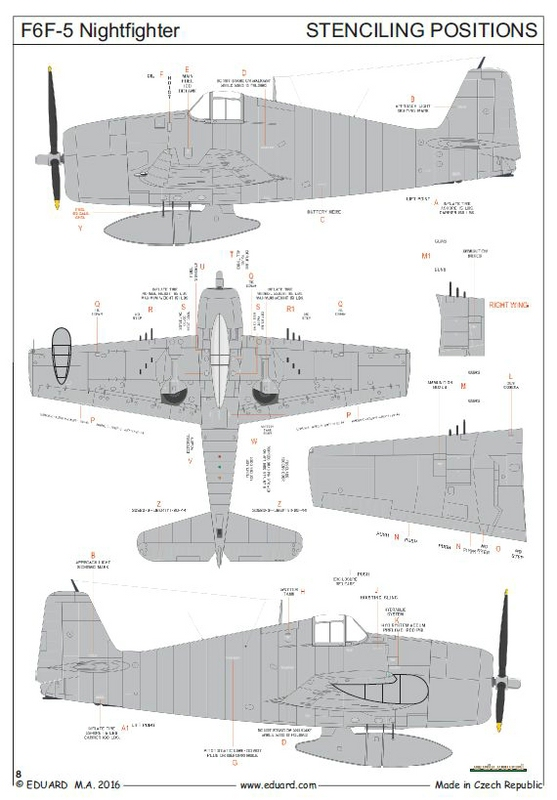 Eduard-7434-F6F-5N-Hellcat-Nightfighter-15 F6F-5N Nightfighter plus Zubehör von Eduard 1:72