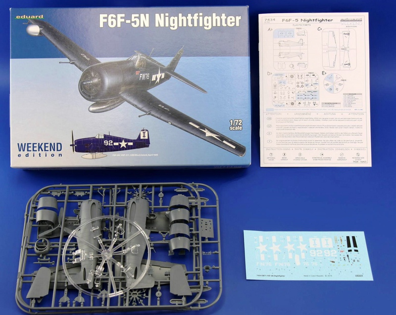 Eduard-7434-F6F-5N-Hellcat-Nightfighter-2 F6F-5N Nightfighter plus Zubehör von Eduard 1:72