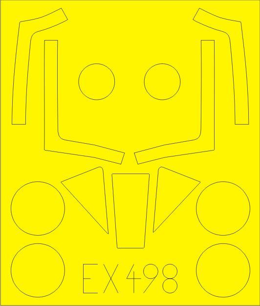 Eduard-EX-498-Masken-2 Eduard-Zubehör für die neue Meteor F.8 von Airfix (1:48)