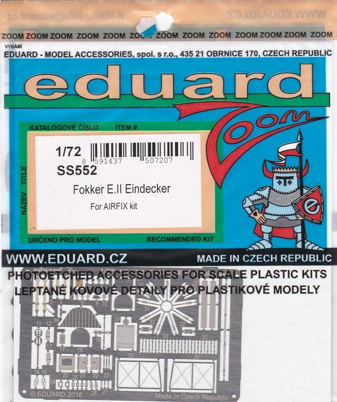 Eduard-SS-552-Fokker-Eindecker-E-1 Eduard Zurüstteile für den Fokker Eindecker von Airfix